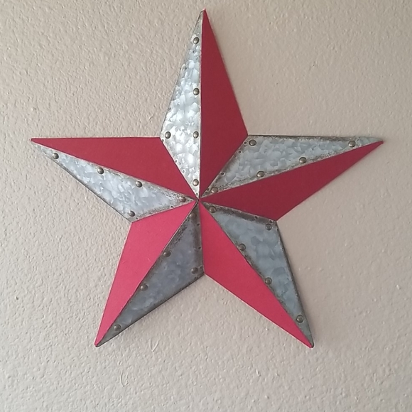 Silver Metal Star Wall Decor  from di2ponv0v5otw.cloudfront.net